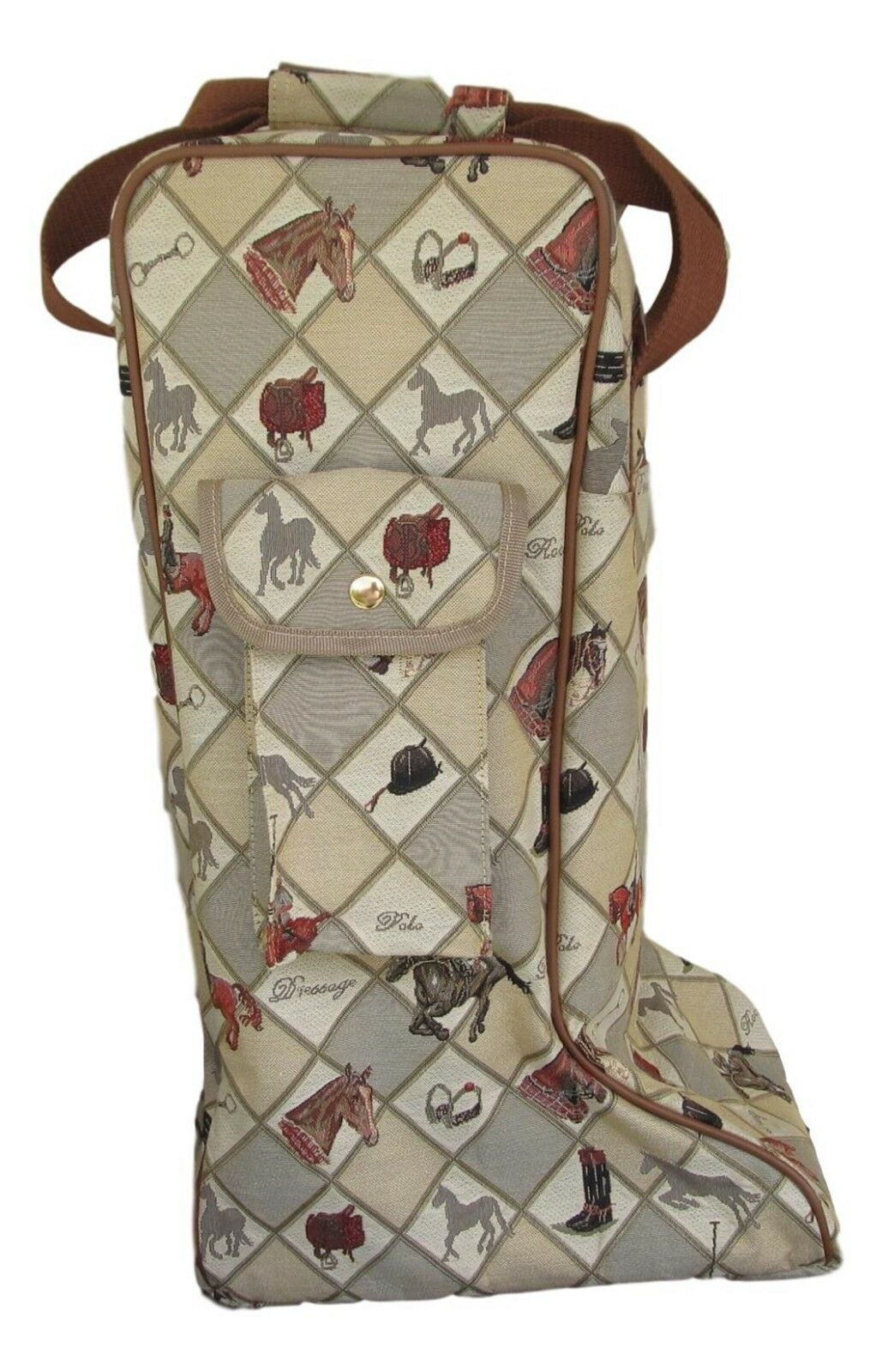 Equestrian Sport Horse Design Tapestry Tall Boot Storage bag Carry Bag