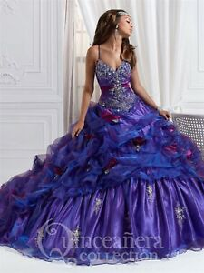 NWT-Quinceanera-Collection-26644-Purple-Violet-Size-6-jeweled-formal-ball-gown