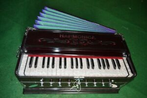 Laying Style Best Harmonium 9 Stopper Chudidaar Bellow 42 Key Two Reed Bass Male