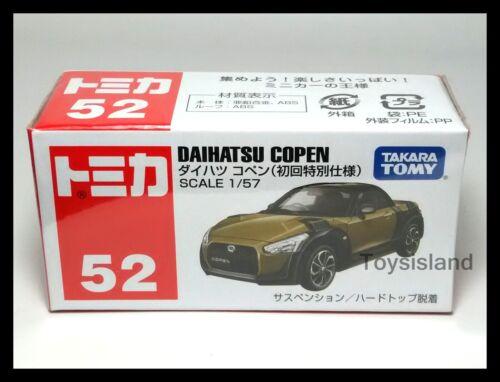 TOMICA 52 DAIHATSU COPEN 1//57 TOMY DIECAST CAR 2015 NEW First edition