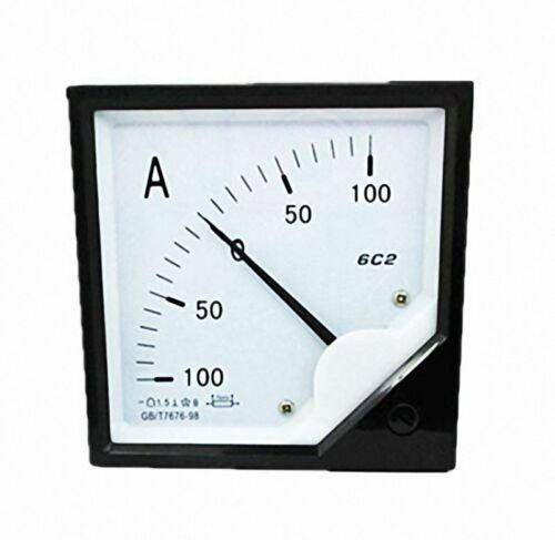 1pcs DC 100A-0-100A 75mV Analog Panel Current Meter Ammeter Gauge 6C2 80*80