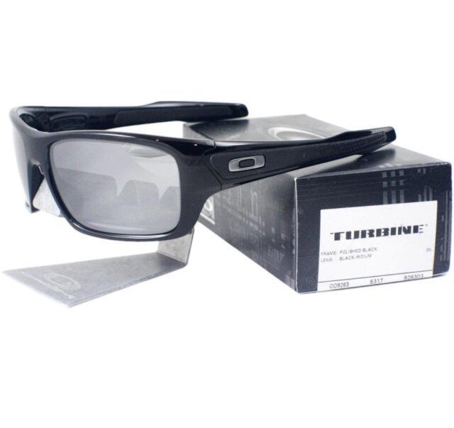 9fa46318655 Oakley OO 9263-03 TURBINE Polished Black Frame Black Iridium Lens Men  Sunglasses