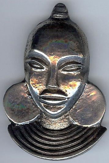 ZuverläSsig Wunderschön Vintage Dimensional Sterlingsilber Zulu Damen Anstecknadel Brosche
