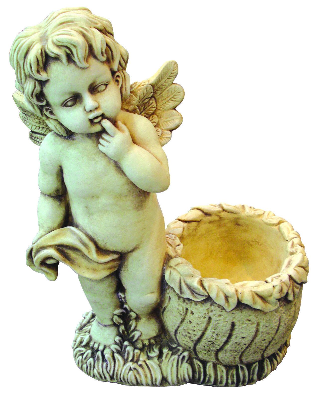 STATUA ANGELO - PUTTO  con vaso