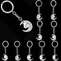 Silver Keyring Plated Letter Dad Son Families Metal Keychain Pendant Women Gift