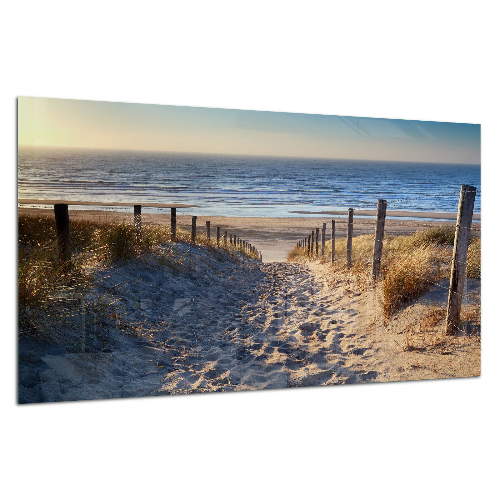 Tempered Glass Photo Print Wall Art Picture Beach Ocean Sea Dust Prizma GWA0333