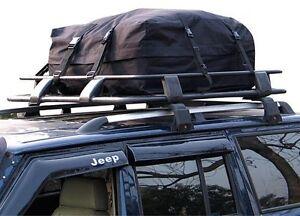 Car-Roof-Rack-Cargo-Bag-Soft-Top-Box-340L-Weather-Resistant-Rain-Flap-Protection