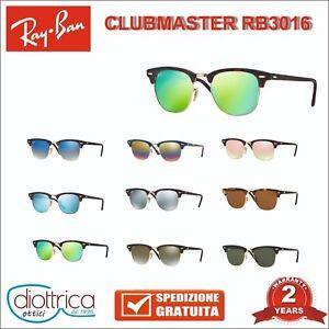 Occhiali-da-Sole-Ray-Ban-Clubmaster-RB-3016-sunglasses-classiche-e-polarizzate