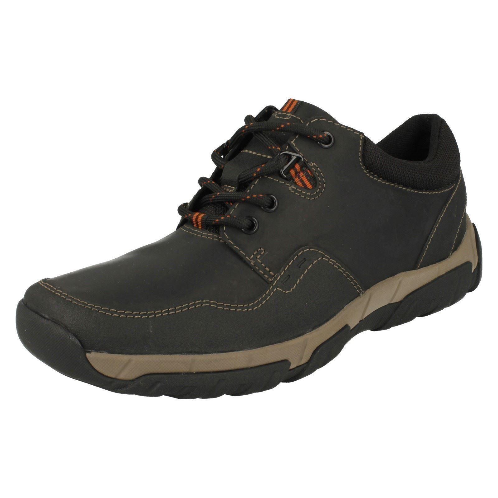 Clarks 'Walbeck Edge' Herren Schwarze Leder-schnürschuhe wasserfeste Schuhe