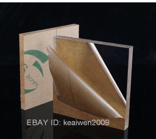 2pcs 300x200x4mm Clear Acrylic Plexiglass Sheet Plastic Panel Perspex PMMA Plate