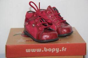0f95e3b442ce7 BOPY - Zeflow - Chaussures bébé Fille - Cuir Rouge - T 18 neuf