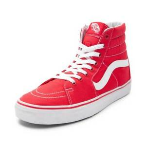 7ca0e4dba0 Image is loading NEW-Vans-Sk8-Hi-Skate-Shoe-Red-White-