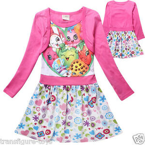 kids girls shopkins clothing cotton dress pink shopkin stock in au