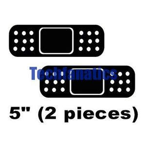 2 Pieces BLACK Band Aid Bandage Decal Car Window Body ...