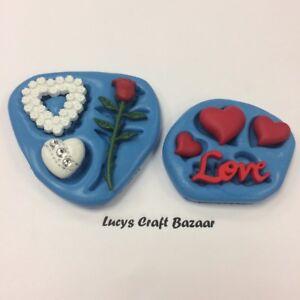Silicone-Mould-Valentine-Wedding-LOVE-Hearts-Rose-Sugarcraft-Cake-decorating