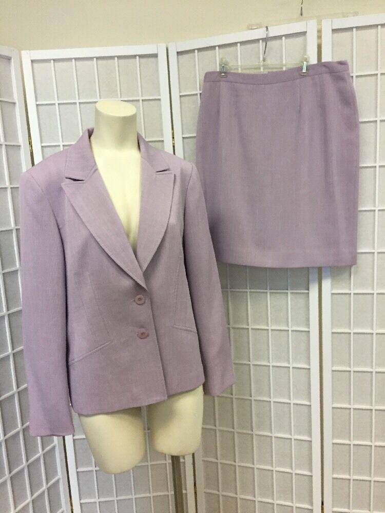 Jones New York  Woman Skirts Suit purple Size 12  Classic Professional