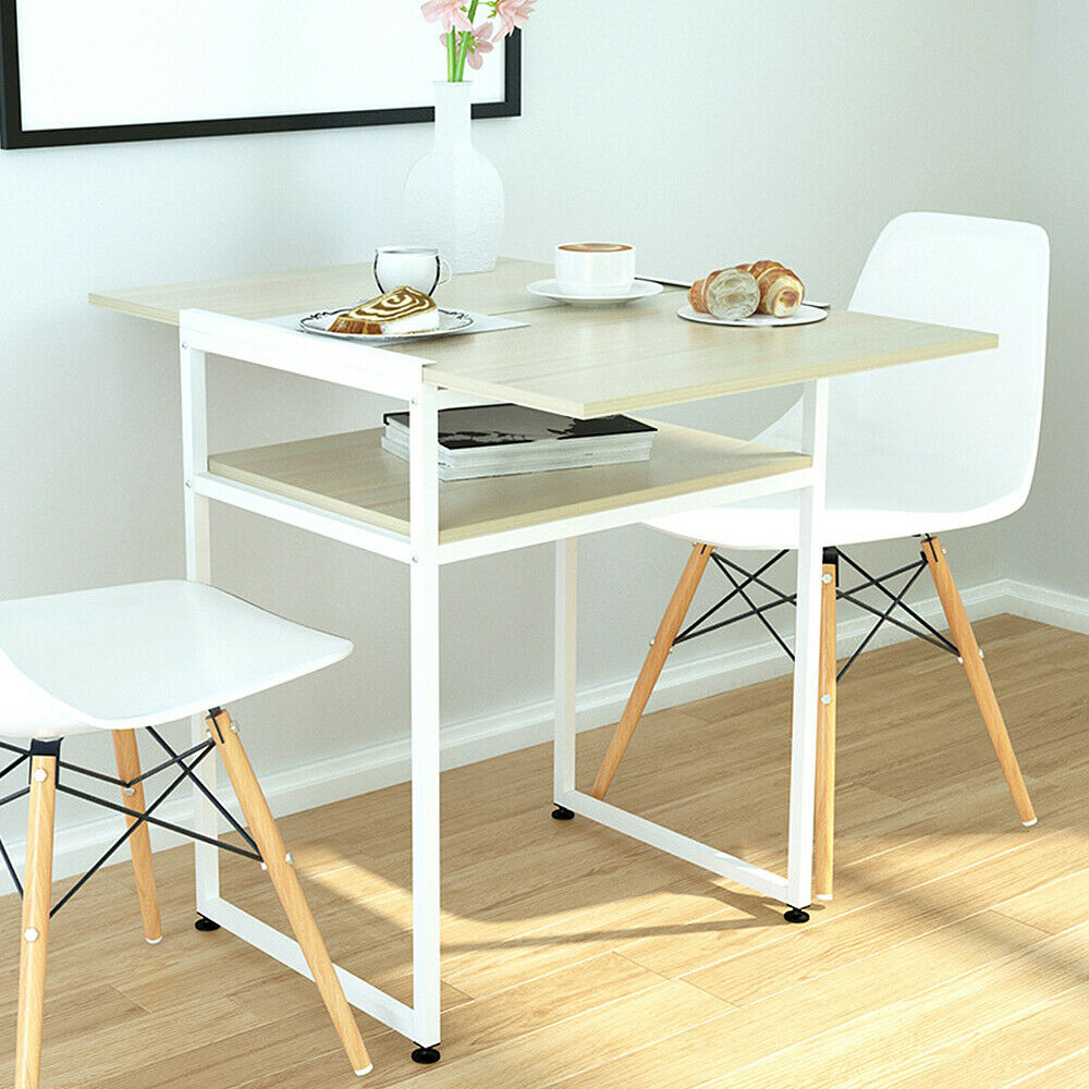 2-Tier Extendable Dining Table for Small Space Folding ...