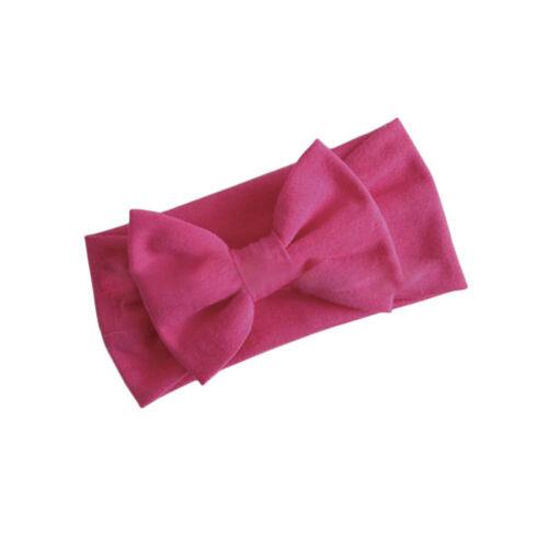 1X Girls Kids Baby Cotton Bow Hairband Headband Stretch Turban Knot Head Wraps