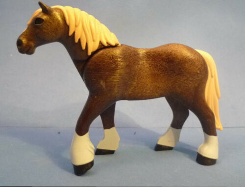 Playmobil J-117 Brown /& Cream Shire Horse Figure Farm Country Western 30667802