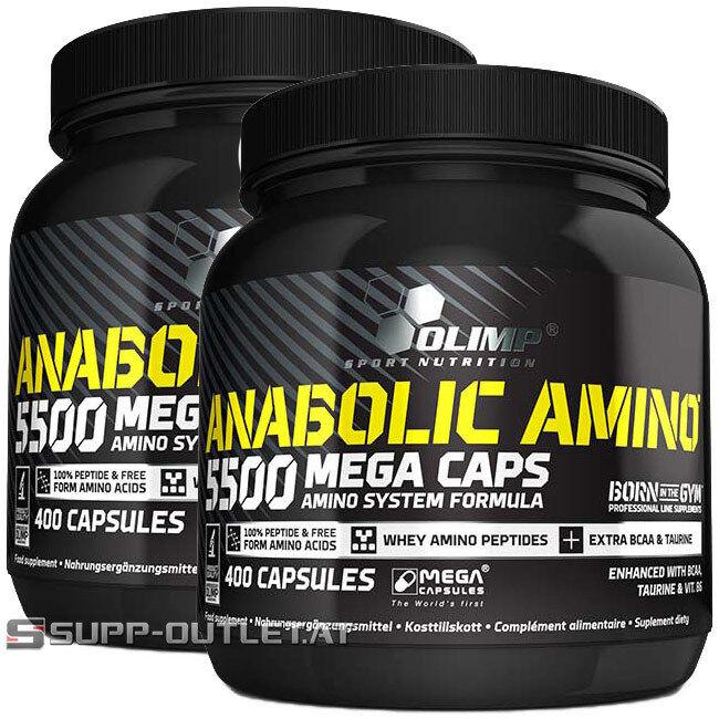 Olimp- Anabolic Amino 5500 Mega Caps  Aminosäuren, BCAA, Amino, Regeneration