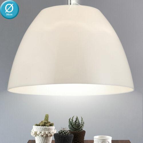 Design Decken Hänge Beleuchtung opal Wohn Ess Zimmer Pendel Leuchte Big Light
