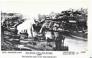 Old-Sunderland-Postcard-The-River-from-The-Bridge-c1897-Pamlin-Print-U761