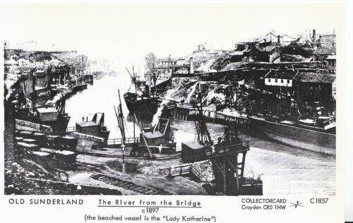 Pamlin Print  U761 The River from The Bridge c1897 Old Sunderland  Postcard