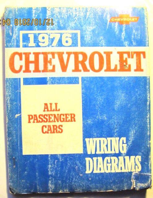 1976 CHEVROLET WIRING DIAGRAMS FOR ALL PASSENGER CARS | eBay