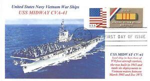 Uss-Midway-CV-41-Del-Nam-Guerra-Relitto-Carrier-Colore-Photocachet-Primo-Giorno