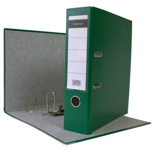 5 x Ordner A4 8 cm PP Kunststoff Grün Aktenordner Briefordner Breit 80 mm