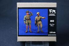 ZA678 VERLINDEN PRODUCTIONS AFRICA KORPS OFFICERS 2 figures WWII Rf 2615 1/35 NB