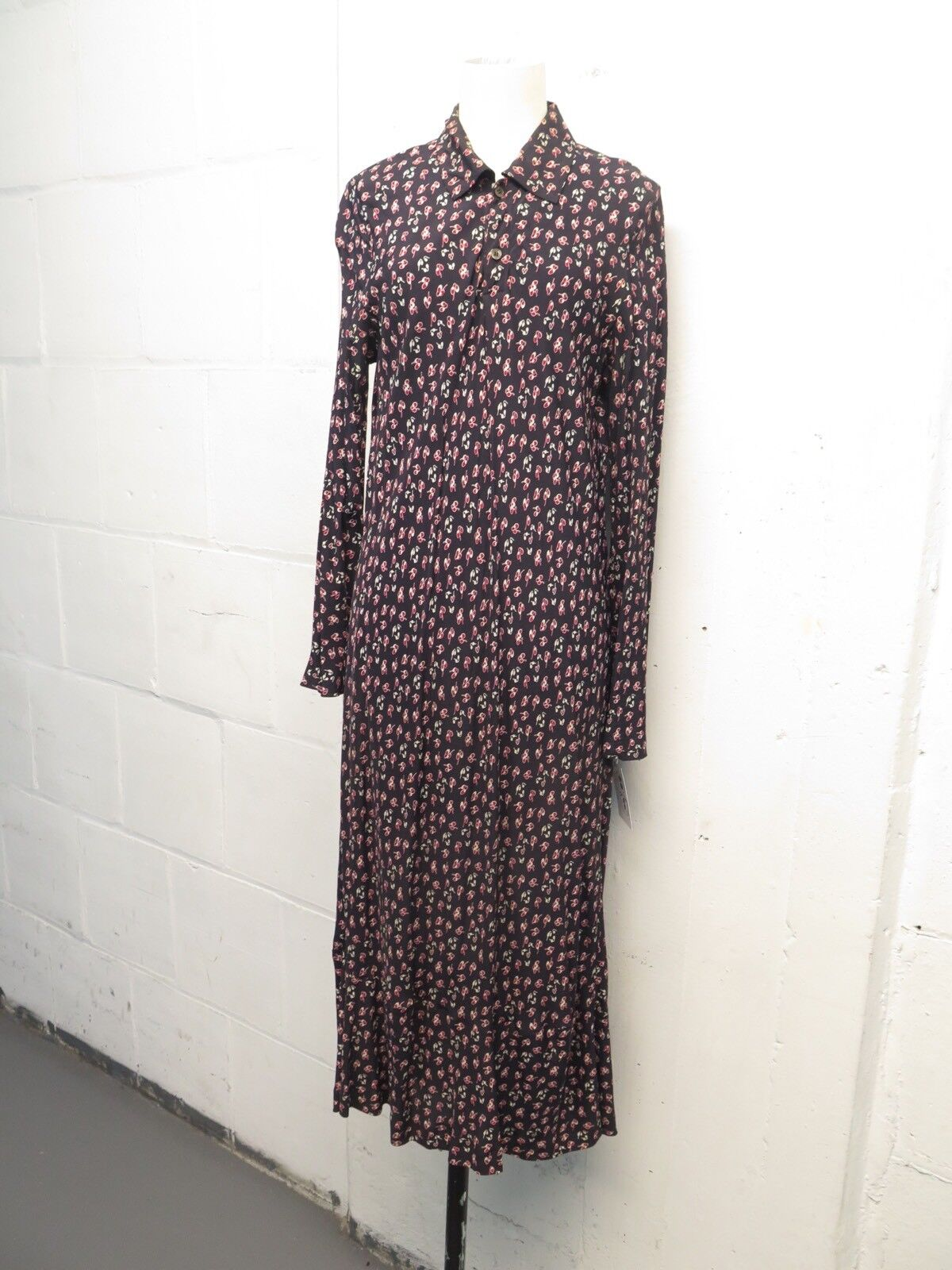 Vintage Comme Des Garçons Floral Long Sleeve Sheath Dress Sz L Totokaelo