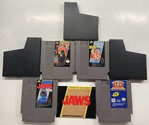 Nintendo NES Friday The 13th, Captain Planet, Karate Kid, Jaws w/ Manual Lot!!