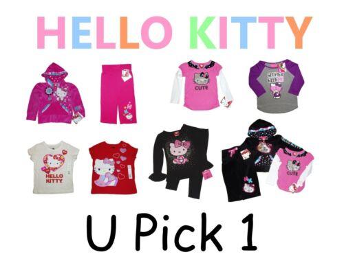 HELLO KITTY SHIRT PANTS BOTTOM CAT TOP GIRLS CHILDRENS CLOTHES KID YOUTH SANRIO