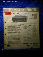 Sony Service Manual TA F222ESX / F500ES Amplifier  (#1255)