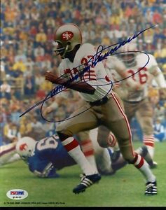 JIMMY JOHNSON 49ERS SIGNED PSA/DNA CERTED 8X10 AUTHENTIC AUTOGRAPH