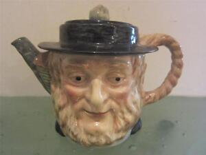 Beswick-England-Pottery-1948-Character-Toby-Teapot-amp-Lid-1116-Exc-Charming