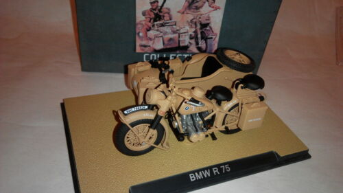 1:24 1939-1945 BMW R75 Motorcycle with Sidecar Combination 1//24 scale By ALTAS