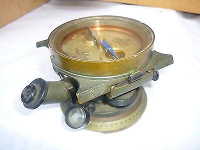 WW1 German Brass Fussartillerie Artillery Director / Compass / Scope by Zeiss