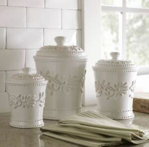 Image Is Loading Canisters Sets For The Kitchen Counter 3 Piece