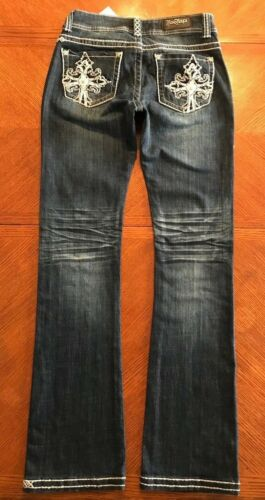 NWT Rose Royce Womens Thick Stitch Boot Cut Jeans...............