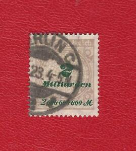 DEUTSCHES-REICH-872-MI-NR-326-A-P-GESTEMPELT-N-GEPRUFT-INFLA-Weinbach
