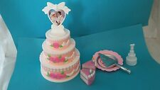 Mattel 1997 ❤ Barbie & Ken Wedding Birthday Cake Pretend Playset and Extras