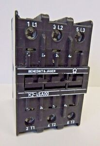 BENEDIKT /& JAGER CONTACTOR 24 VOLT K2-45A00