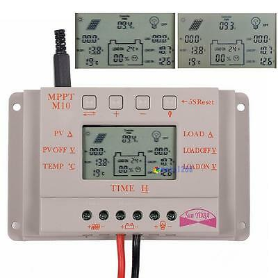 10A 20A 30A LCD MPPT Solar Panel Battery Regulator Charge Controller 12V/24V CE