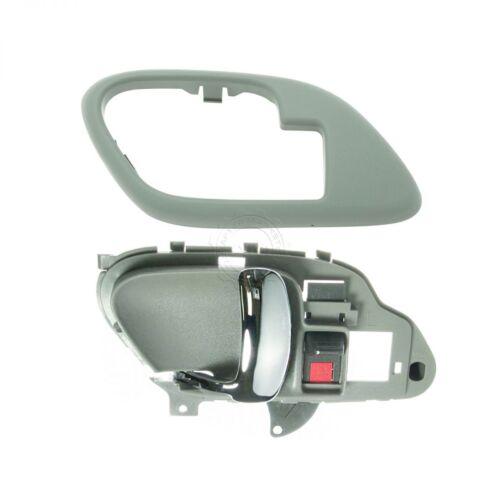 Inside Interior Gray /& Chrome Door Handle w// Bezel LH for Chevy Truck Pickup