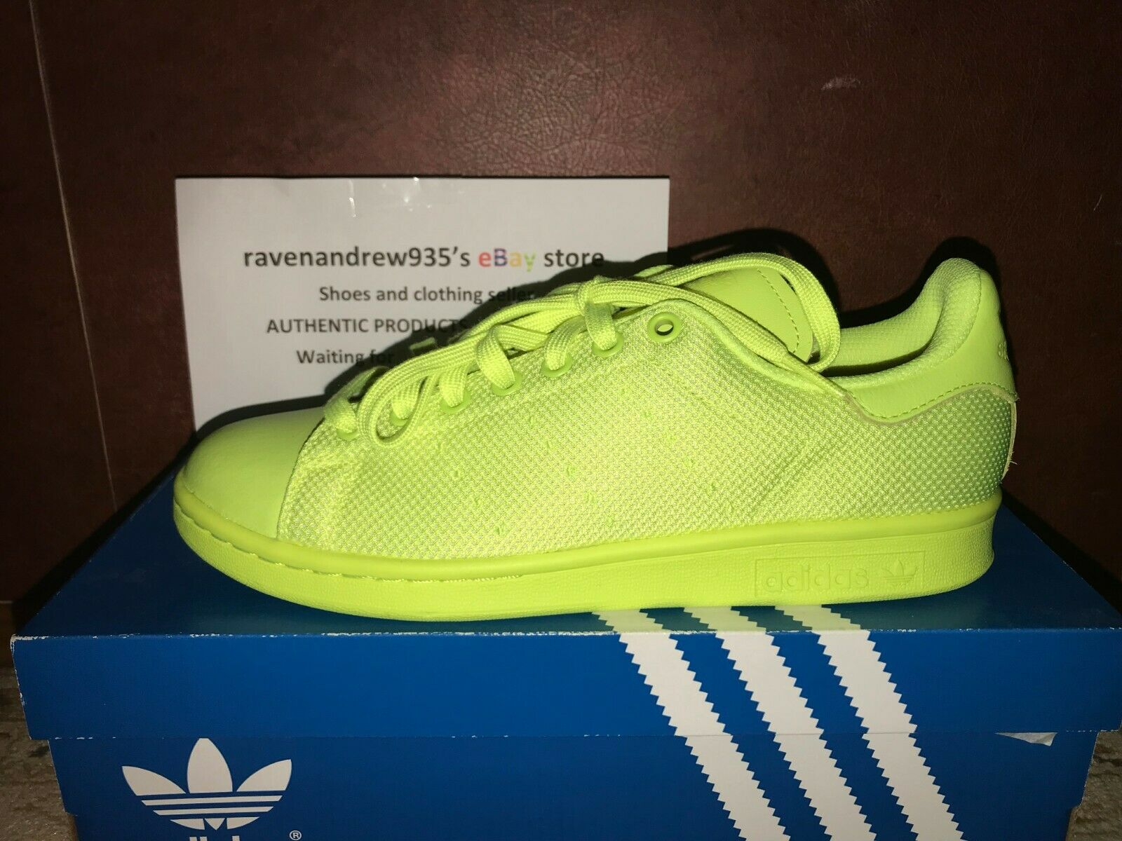 NEW ADIDAS ORIGINALS STAN SMITH Solar YELLOW Sneakers SHOES US 7.5 BB4996