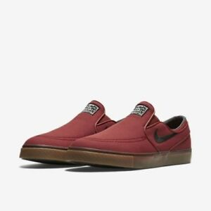 b8325ed99bfa NIKE ZOOM STEFAN JANOSKI SLIP CANVAS MEN S SKATE SHOES DARK CAYENNE ...