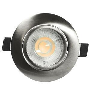 LED DA INCASSO FARETTO DA INCASSO LAMPADA Piatto Set Dimmerabile 7w
