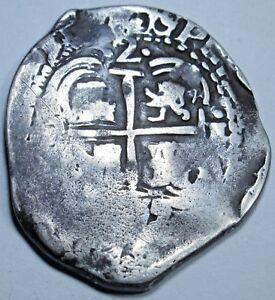 1655-VF-Spanish-Potosi-Silver-2-Reales-Cob-Piece-of-8-Real-Colonial-Pirate-Coin
